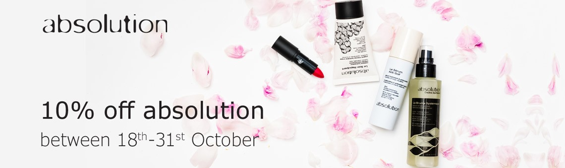 Get 10% Off Absolution Skincare from 18th-31st October 2020
