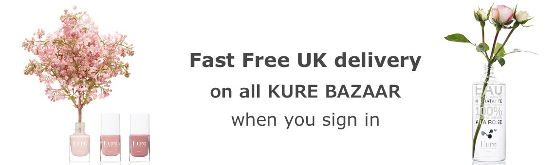 Fast Free UK delivery on all KURE BAZAAR when you sign in