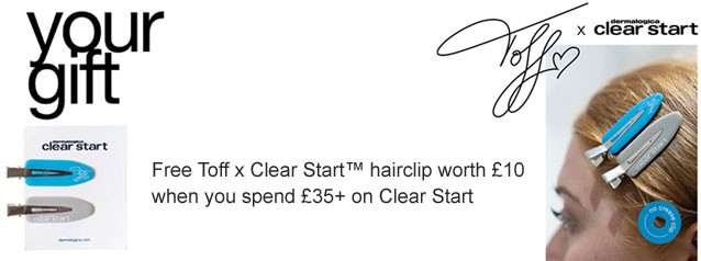 Toff x Clear Start Hair Clips GWP