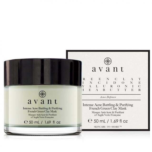 Avant Intense Acne Battling And Purifying French Green Clay Mask 50ml