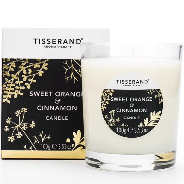 Tisserand Sweet Orange And Cinnamon Candle 100g