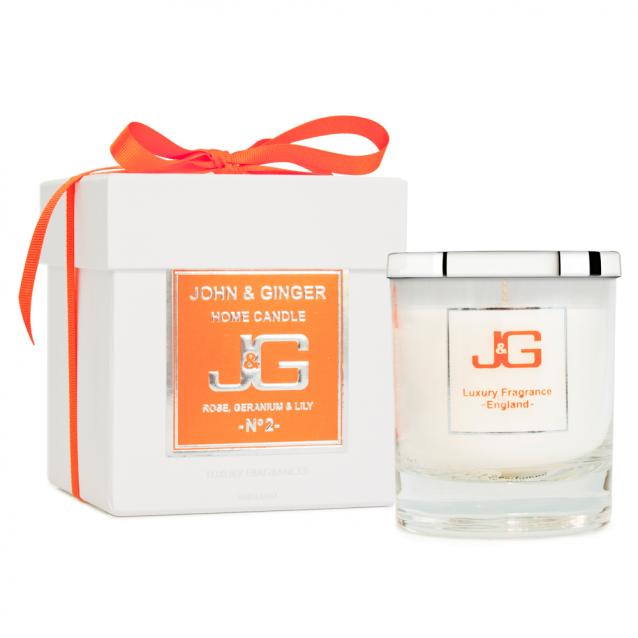Scented Boutique Candle Number 2 With Rose And Geranium