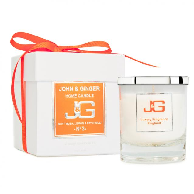 Scented Boutique Candle Number 3 With Musk And Patchouli