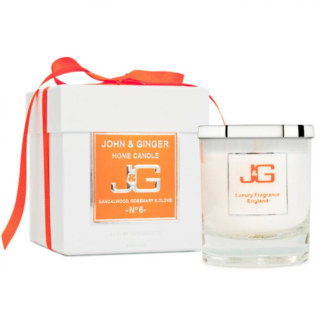 Scented Boutique Candle Number 6 With Sandalwood And Clove