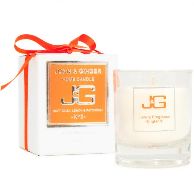 Scented Home Candle Number 3 With Musk And Patchouli