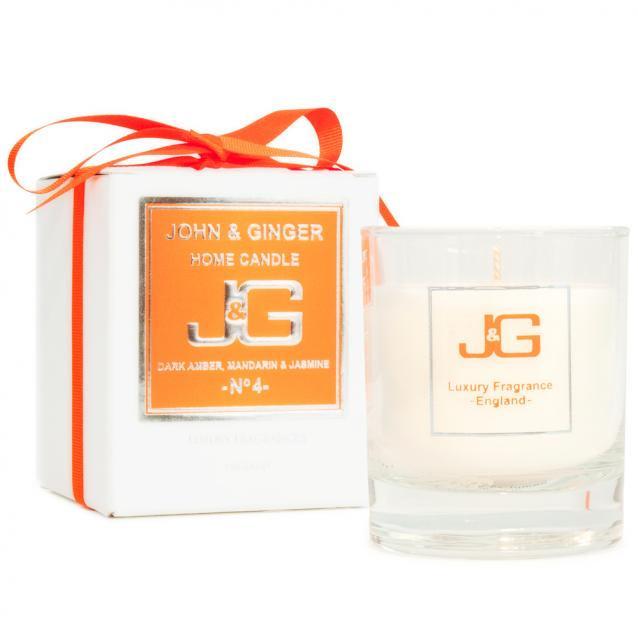 Scented Home Candle Number 4 With Amber And Jasmine