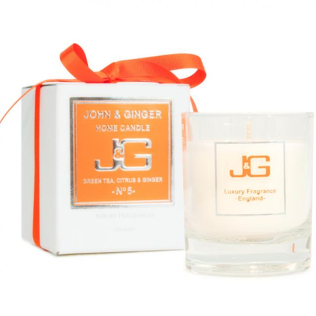 Scented Home Candle Number 5 With Green Tea And Citrus