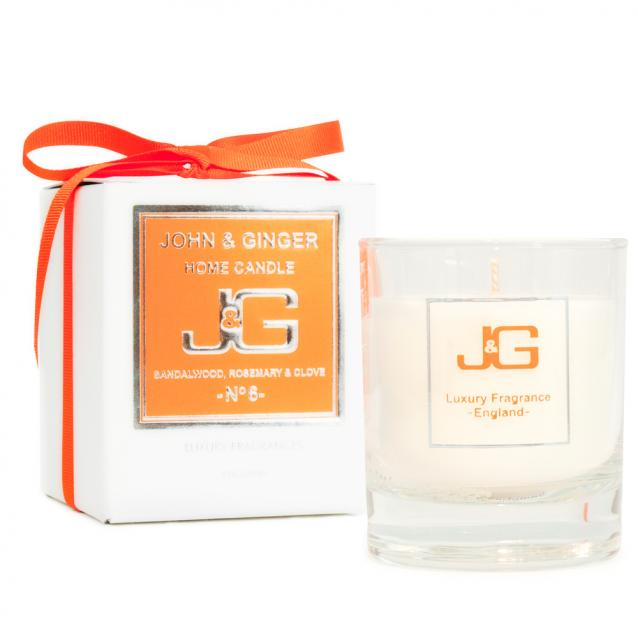 Scented Home Candle Number 6 With Sandalwood And Clove