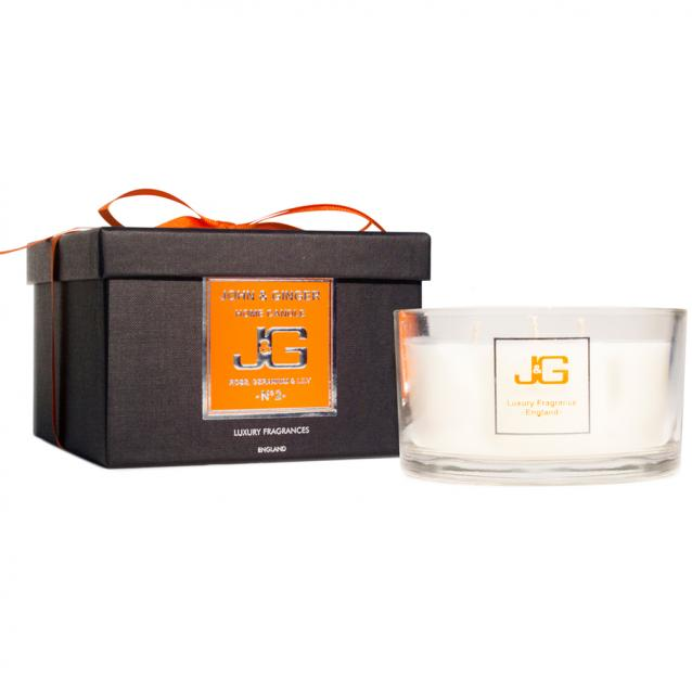 Scented 3 Wick Spa Candle Number 2 With Rose And Geranium