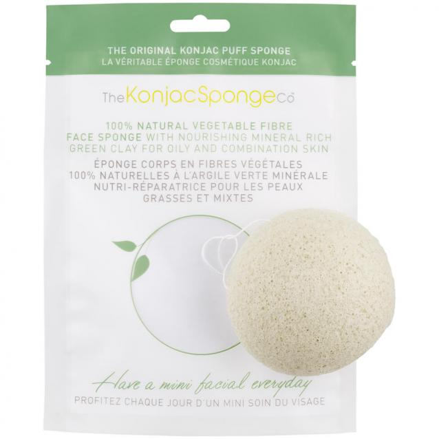 Konjac Facial Puff Sponge With French Green Clay