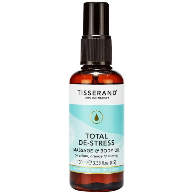 Tisserand Total De Stress Massage And Body Oil 100ml