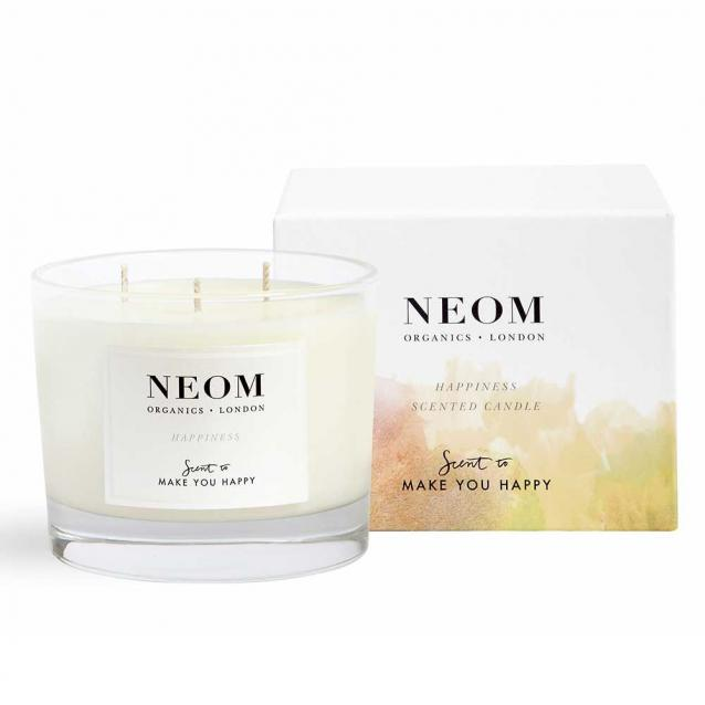 Neom Happiness Scented Candle 3 Wick