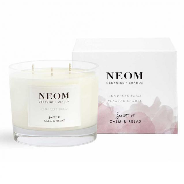 Neom Complete Bliss Scented Candle 3 Wick