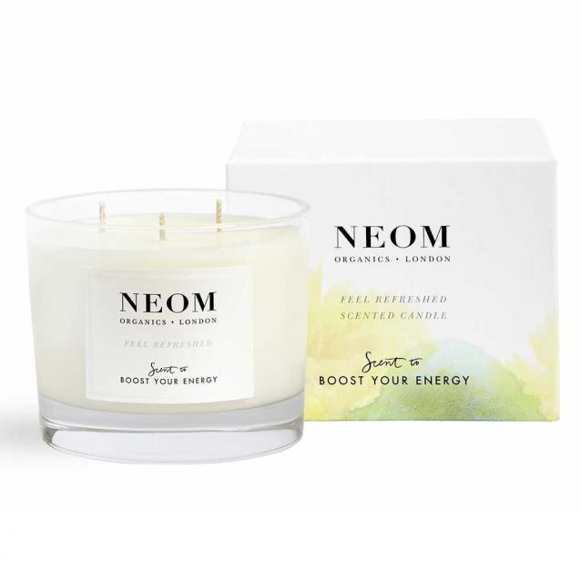 Neom Feel Refreshed Scented Candle 3 Wick