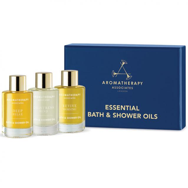 Aromatherapy Associates Essential Bath And Shower Oils Collection 3 x 9ml