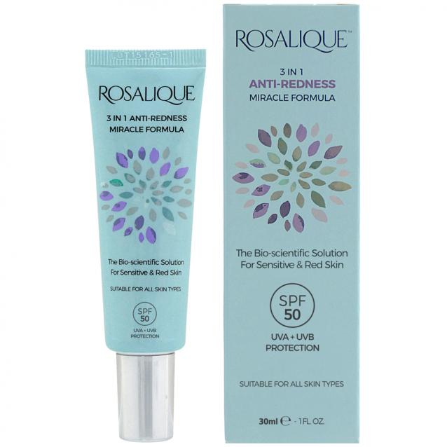 Rosalique 3 In 1 Anti Redness Miracle Formula SPF50 30ml