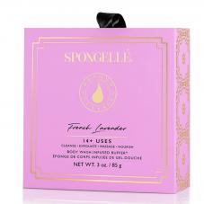 Spongelle Boxed Flower Body Wash Infused Buffer French Lavender